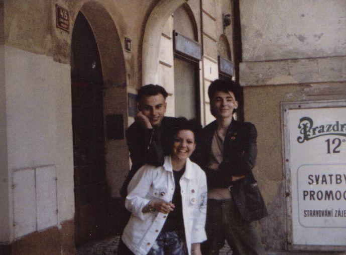 v Praze před koncertem VZ + BONPARI, 1984